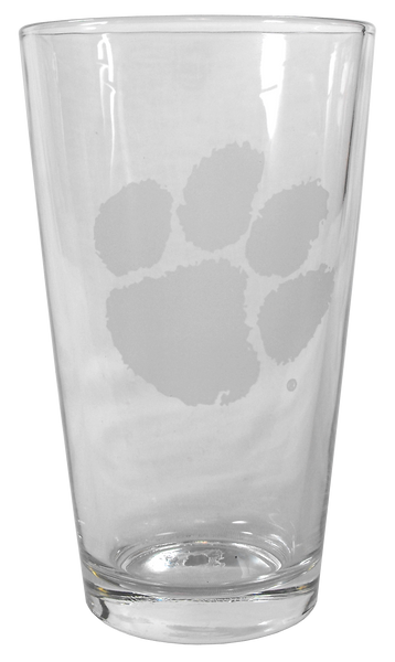 Clemson Deep Etch Beverage Glass
