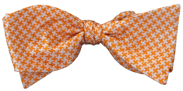 Clemson Orange Houndstooth Bow Tie