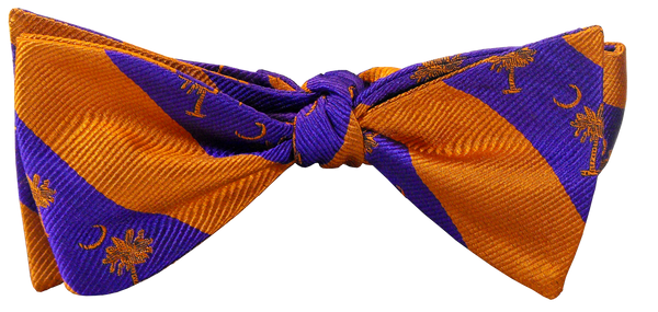 Clemson Palmetto and Moon Bow Tie