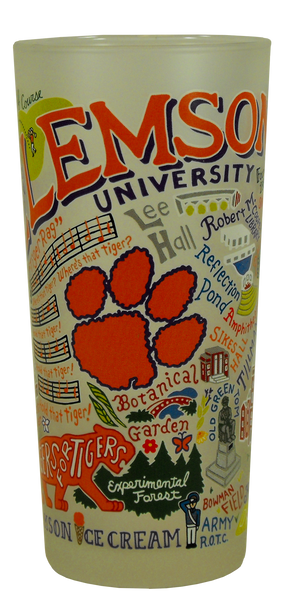 Landmarks of Clemson Frosted Glass