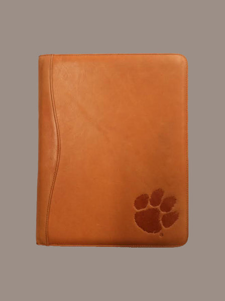 Clemson University Leather Portfolio (Clay)