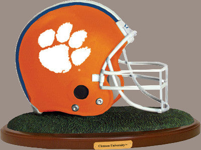 Clemson University Figurine-Clemson Football Helmet