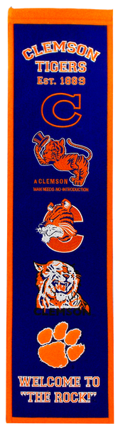 Clemson Through the Ages Banner