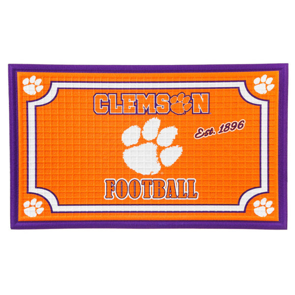 Clemson Embossed Floor Mat
