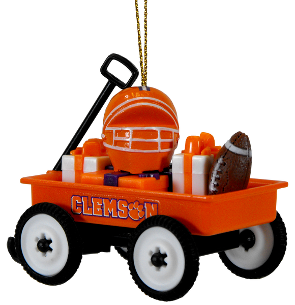 Clemson Little Wagon Ornament