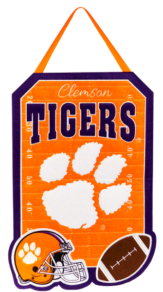 Clemson Tigers Outdoor Safe Felt Door Décor