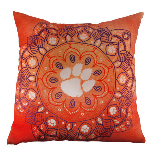 Clemson Medallion Print Pillow