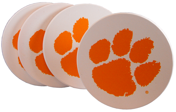 Clemson University Stoneware Coaster Set