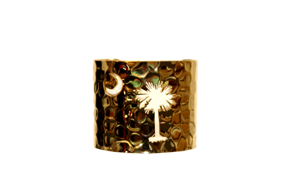 South Carolina Palmetto Moon Cuff - Gold