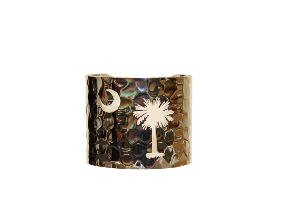 South Carolina Palmetto Moon Cuff - Silver