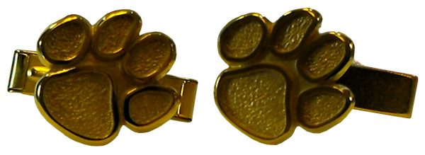 Clemson Gold Tiger Paw Cufflinks