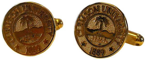 Clemson University Gold Seal Cufflinks