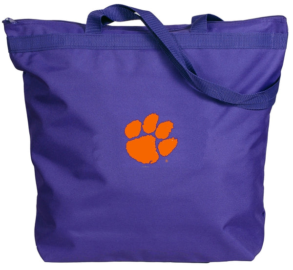 Clemson Purple Tote Bag