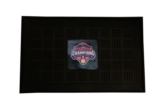 Clemson University 2018 National Champions Logo Doormat