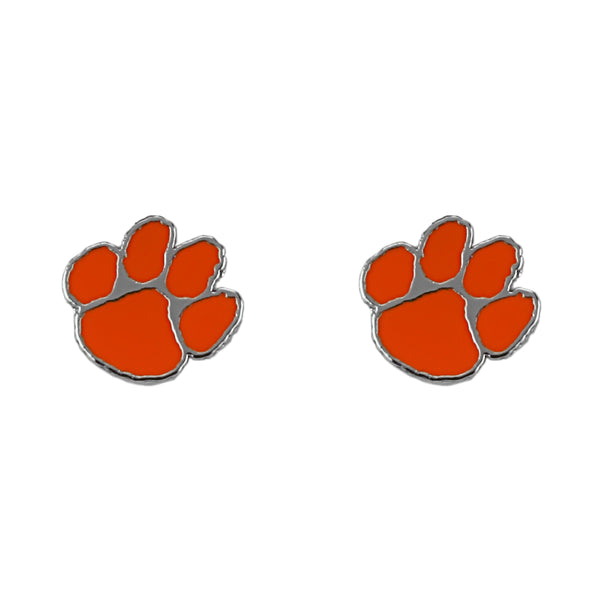Clemson University Tiger Paw Earrings