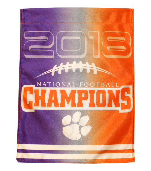Clemson National Championship Ombre House Flag