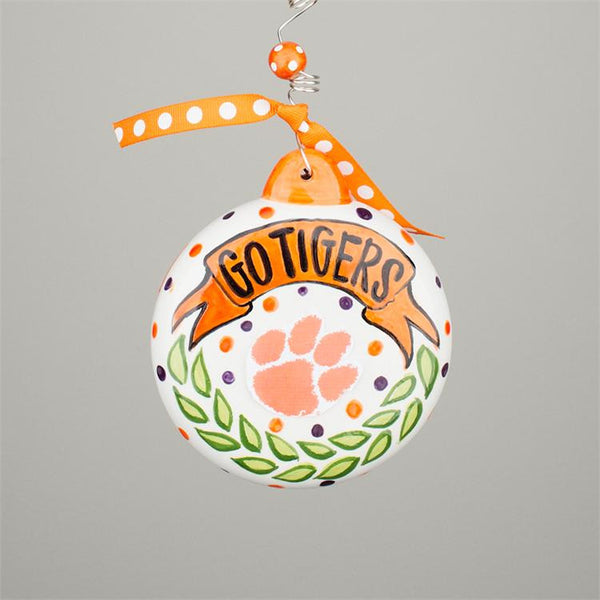 Clemson University Ceramic Ornament