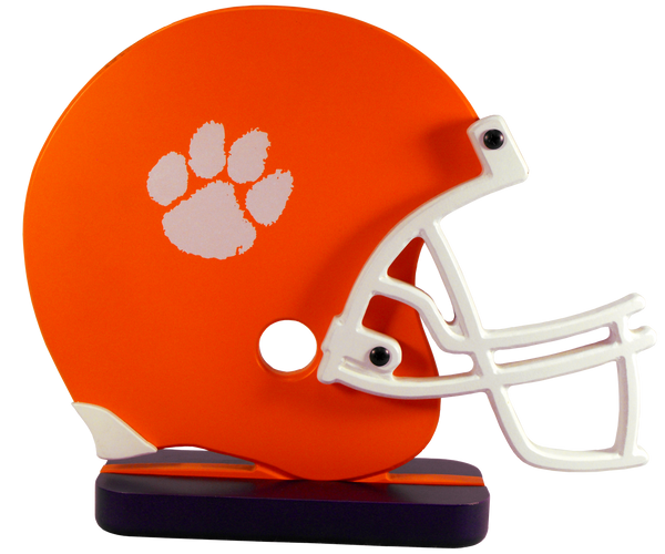 Clemson University Wooden Helmet Shelf Art