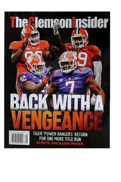 "Clemson Insider Magazine - ""Back with a Vengeance"""