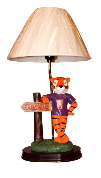 Clemson Tiger with Sign Lamp