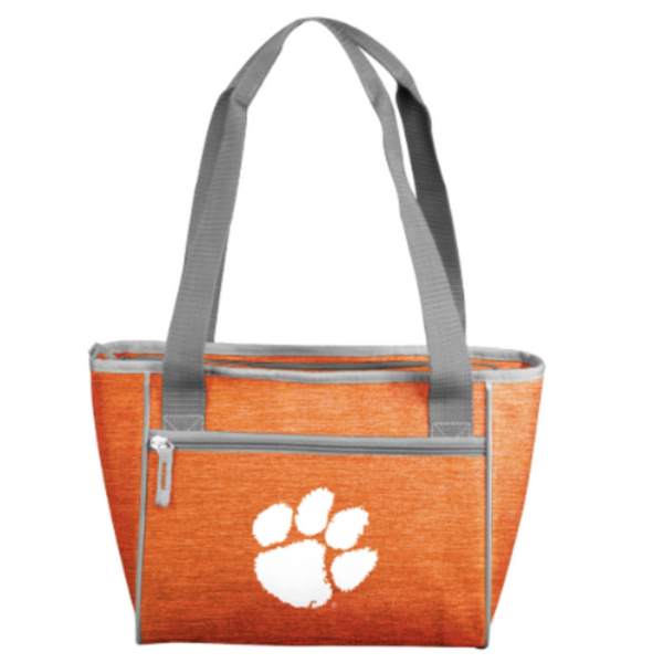 Clemson 16-Can Cooler Tote - Heathered Orange