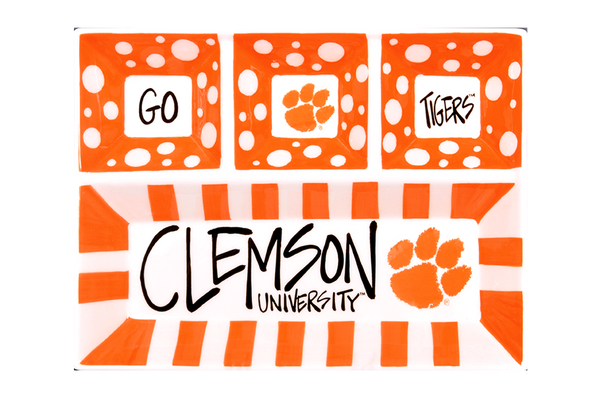 Clemson University Ceramic 4-Section Platter