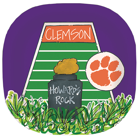 Clemson University Howard's Rock Melamine Plate