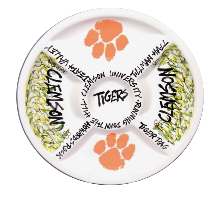Clemson University Divided Veggie Platter