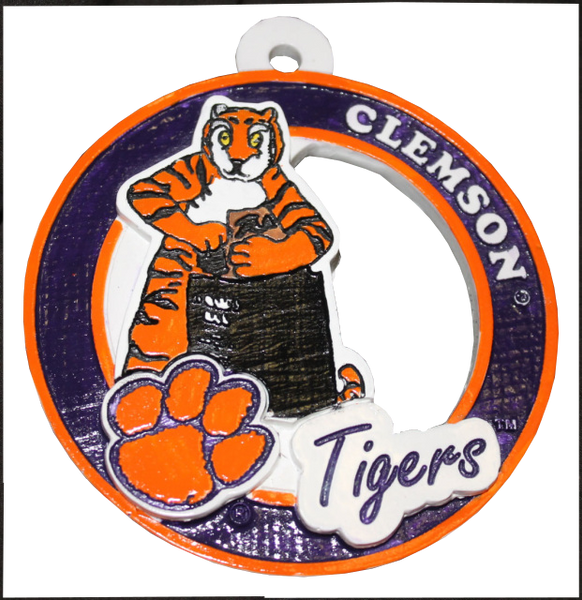 Clemson University Howard's Rock and The Tiger Ornament