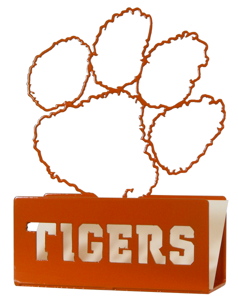 Clemson University Metal Paw Business Card Holder