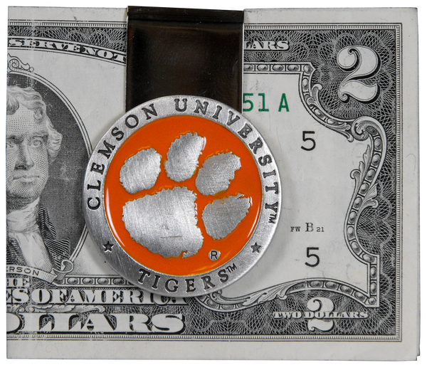 Clemson University Money Clip - Orange Medallion