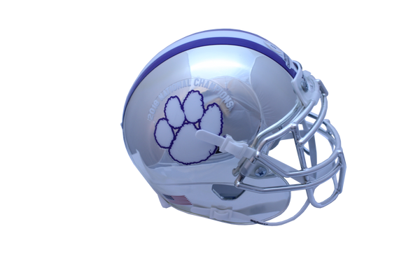 Clemson 2018 National Championship Chrome Mini Helmet