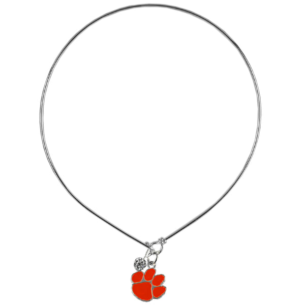 Clemson Wire Tiger Paw Necklace