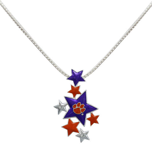 Clemson Star Medallion Necklace