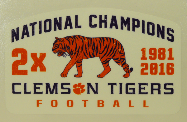 2x National Champions Decal