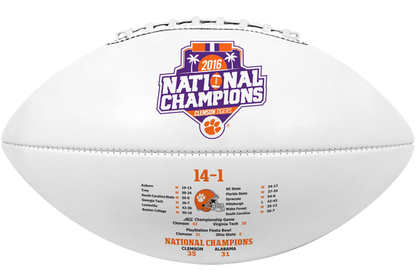Clemson University Full Size National Champ Signature Football