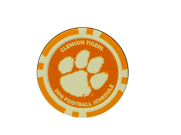 Clemson University National Champions Marker Chip