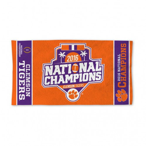 Clemson National Champions Bench Towel
