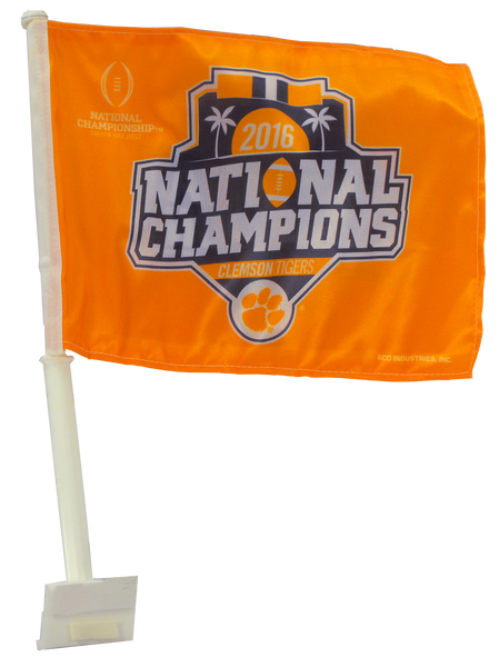Clemson Tigers Natty Car Flag