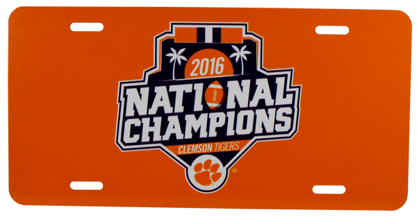 Clemson National Championship License Plate - Metal