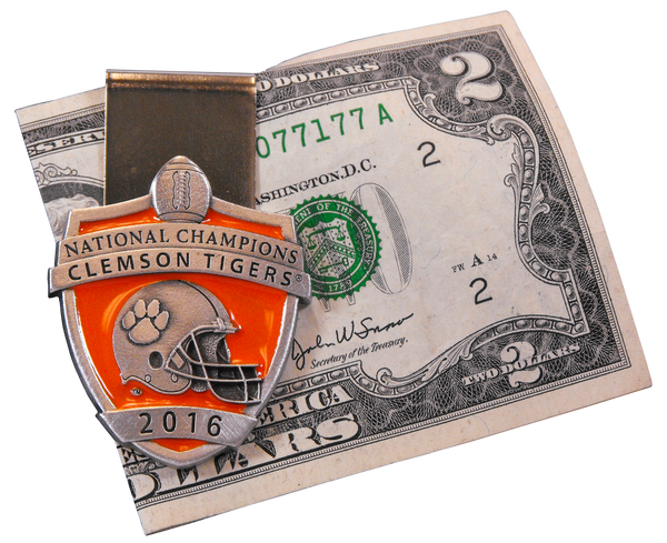 National Champions Pewter Money Clip
