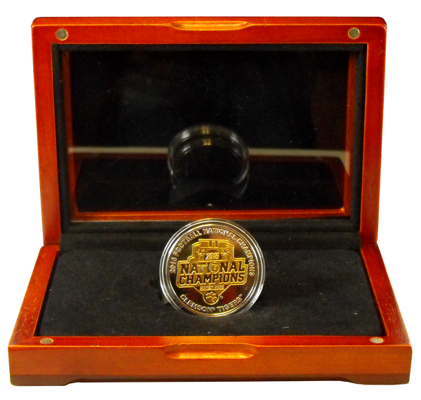 Clemson University National Champions Two-Toned Collectible Medallion