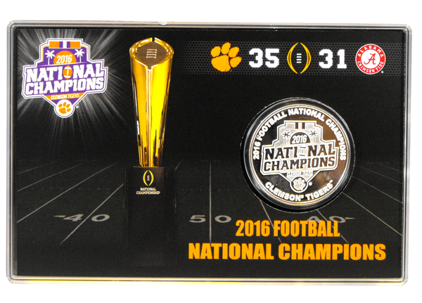 2016 National Champions Silver Collectible Medallion