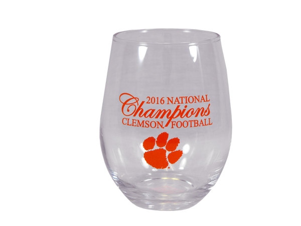 Clemson Tigers Natty Stemless Drink Glass