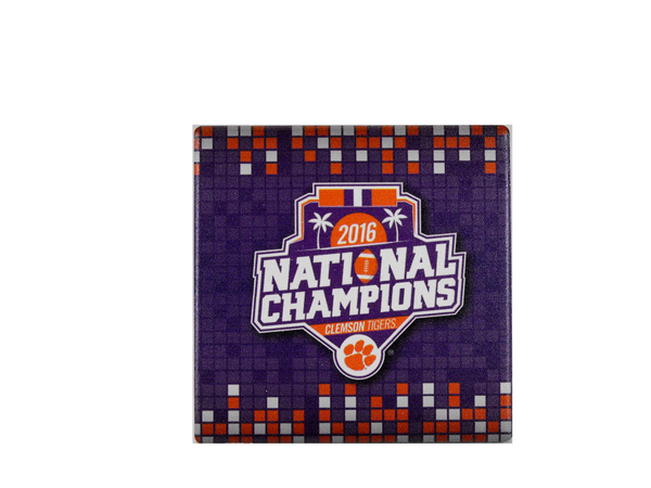 Clemson National Champions Coaster or Set