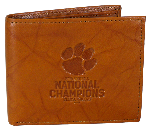 Clemson University National Championship Leather Wallet
