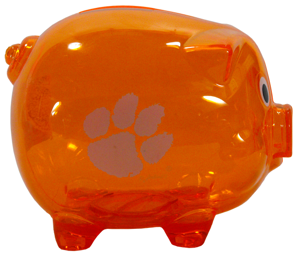 Clemson Orange Piggy Bank
