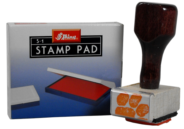 Clemson Tiger Paw Stamp and Orange Ink Pad
