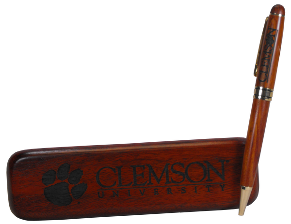 Rosewood Clemson Pen and Box