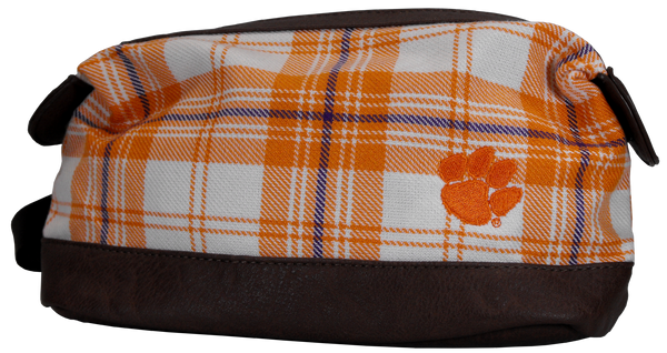 Clemson University Plaid Travel Kit
